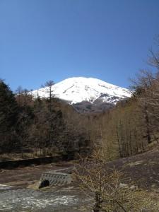 富士山を2合目の私の瞑想ポント